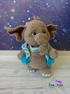 Elefant Monja - Crochet Pattern Amigurumi PDF file by Elena Akkoca (Ecem Design) Crochet Animal Amigurumi, Crochet Animal Patterns, Stuffed Animal Patterns, Amigurumi Patterns, Amigurumi Doll, Crochet Animals, Crochet Dolls, Crochet Elephant Pattern, Cute Crochet