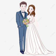 Groom Wedding Dress, White Wedding Dresses, Wedding Couples, Wedding Bride, Cute Couples, Wedding Favors, Paar Illustration, Wedding Illustration, Couple Illustration