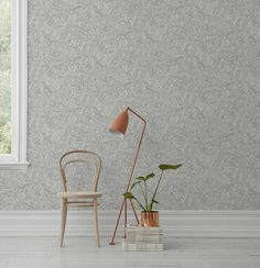 The wallpaper pattern Fantasia from Boråstapeter Fantasia from Wonderland is a green white light wallpaper in playful & imaginativestyle Die Wallpaper, Hallway Wallpaper, Colorful Wallpaper, Pattern Wallpaper, Room Colors, Home Accessories, Living Room Decor, Wonderland, Tyger