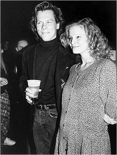 Kyra Sedgwick 1989 Kevin Bacon With Wife At A Fundraiser The