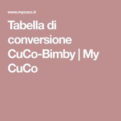 Tabella di conversione CuCo-Bimby | My CuCo