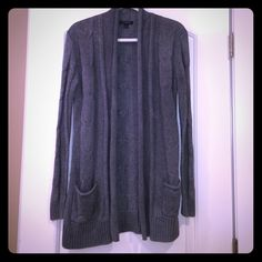 ❌LAST CALL❌ Beautiful gray cardigan with pockets on each side ---shows signs of wear but in great condition! 55% cotton 20%nylon 20%polyester Banana Republic Sweaters Cardigans