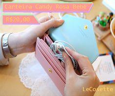 Carteira Candy Rosa Bebê R$20,00