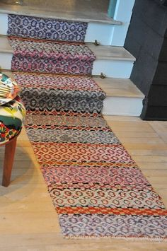 Scandinavian Made: Handwoven Rugs love this shot of color- warm to walk on too Tapestry Weaving, Loom Weaving, Hand Weaving, Rug Inspiration, Rug Store, Weaving Projects, Weaving Patterns, Handmade Rugs, Handmade Products