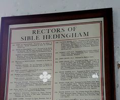 Church of St Peter, Sible Hedingham  List of Rectors.  1634 John Jegon MA. A fellow of Corpus Christi College in Cambridge 1614-1620. Presented by King Charles in 1634. A Royalist supporter who was accused by the Puritans and tried by The Earl of Manchester for being a Scandalous Clergyman.