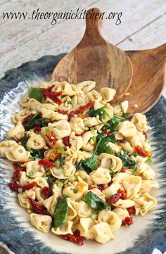 Tortilini with Spinach and Sun Dried Tomatoes