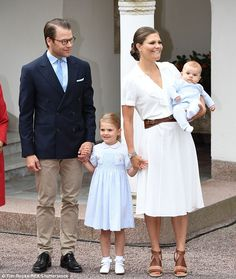 Crown Princess Victoria of Sweden, 39, was joined by her husband Prince Daniel, daughter Estelle and son Princess Oscar for the national celebration of her birthday