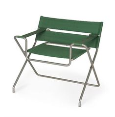 Marcel Breuer, B4 folding club chair, 1927, nickelled tubular steel and canvas