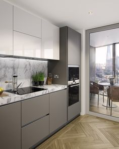Resultado de imagem para singapore interior design kitchen modern classic kitchen partial open