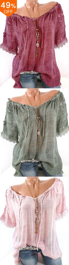 I love those fashionable and beauiful blouses from banggood.com. Find the most suitable and comfortable outfit at incredibly low prices here.  #womensfashion #blouse #outfits