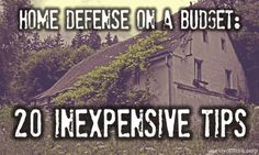 Home defense is a part of self-reliance that we all deal with on a daily basis, and self-reliance is the king of all things DIY (Do-It-Yourself)Since it