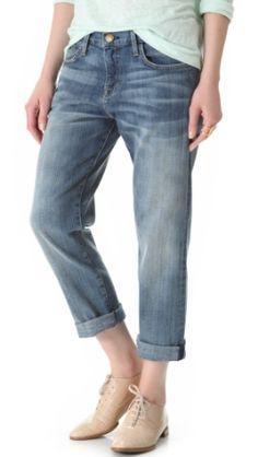 How to Wear Boyfriend Jeans: Current/Elliott Boyfriend Jeans in Super Loved