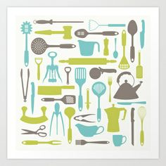 LET'S COOK! Art Print by Needs & Wishes - $18.00