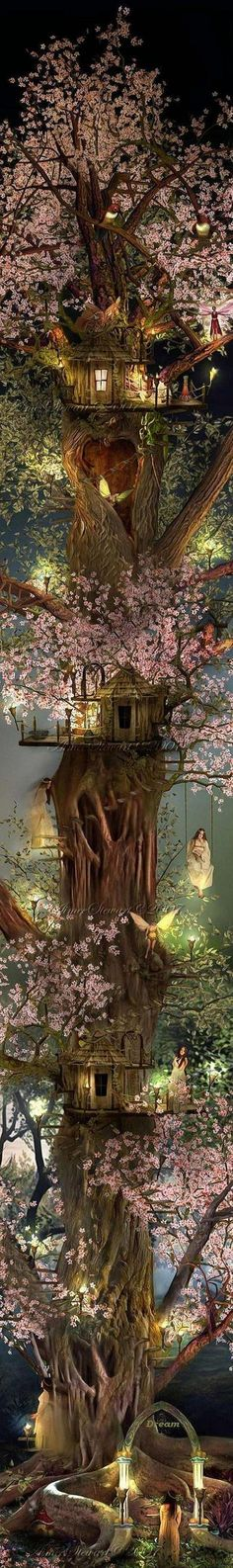 Elves Faeries Gnomes: Faery treehouse.