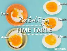 Boiled egg timetable