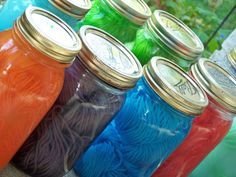 Homestead Survival: Dyeing Yarn In Mason Jars With Drink Mix Powder