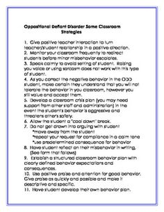 oppositional defiant disorder research paper Oppositional defiant disorder typically oppositional defiant diagnoses are said by developmental psychologist to have unresolved issues as toddlers the deviants have a difficult time learning to separate from their primary attachment figure and developing the skills to be independent.