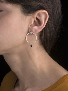 Onyx Mini Sinker Earring