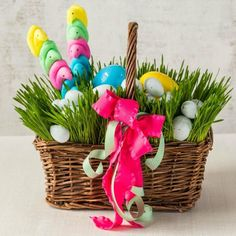 Pretty Lush Grass-Filled Easter Basket