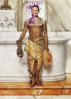 Barney and the Angry Inch Neil Patrick Harris, Out Magazine March 2014 + A Balneator by Sir Lawrence Alma-Tadema