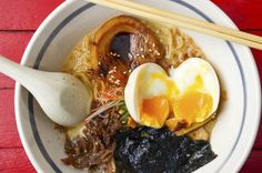 There it is, floating like a little treasure in your perfect bowl of ramen, a soft, savory medium-boiled egg. You can (and should) recreate restaurant-quality ramen at home, which means learning&nb… Soft Boiled Eggs, Making Hard Boiled Eggs, Asian Recipes, Ethnic Recipes, Mets, Mediterranean Recipes, C'est Bon, Eggs, Recipes