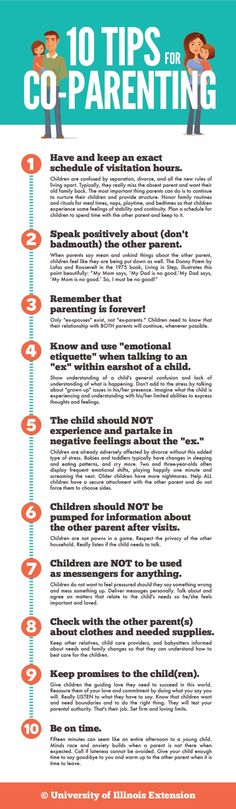 10 Tips for Co-Parenting - Divorce is always an tricky transition time for kids, but these tips can help make the process more comfortable for them.