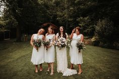 Short Bridesmaid Dresses Silk Silvery Grey Nature Wedding https://jonathanellisblog.com/ #bridesmaids #dresses #silk #silver #white