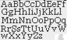 Cross stitch lettering pattern