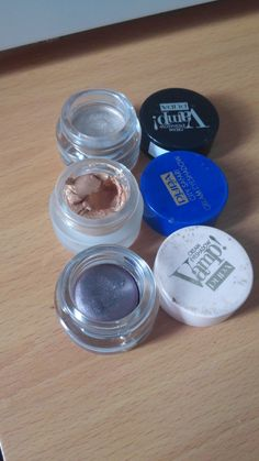 Pupa Vamp! Cream eyeshadows-beautiful matte and shimmer shades, I use them as cream bases much like the Maybelline Colour Tattoos except this brand's cream eyeshadows are available in a far greater range of shades.