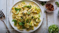 Puréed corn makes a fantastically creamy summer pasta sauce