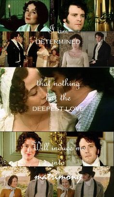 """""""I am determined, that nothing but the deepest love will induce me into matrimony."""" -Elizabeth Bennet, Pride and Prejudice <3"""