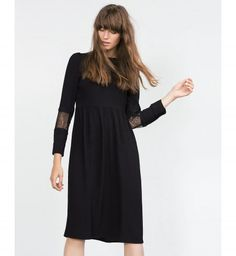 Robes noires automne hiver 2015-2016 : une robe Zara
