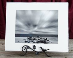 "Ready to Frame 8"" x 10"" Landscape Photograph Windy Beach in a 11"" x 14"" Mat Board and Backer *Stand is not included"