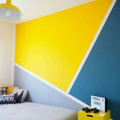 60 Best Geometric Wall Art Paint Design Ideas 33 Best Geometric Wall Art Paint Design Ideas & The post 60 Best Geometric Wall Art Paint Design Ideas & textured painting appeared first on Geometric paint . Creative Wall Painting, Room Wall Painting, Kids Room Paint, Bedroom Wall Designs, Wall Decor Design, Framing Basement Walls, Geometric Wall Paint, Room Color Schemes, Wall Patterns