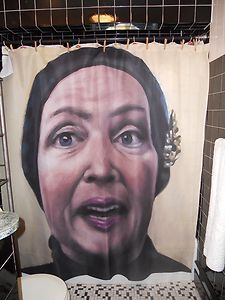 Little Edie Beale STAUNCH Grey Gardens Shower Curtain