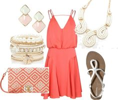 Coral Summer outfit