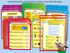 Lakeshore's Common Core Math Practice Cards are designed to support Common Core State Standards—with self-checking activities that cover essential math skills for fifth grade!