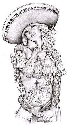 Mexican women tatto designs naked picture 952