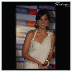 #Lara Dutta in a White saree