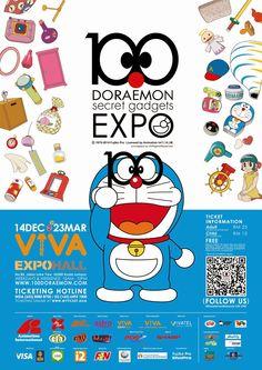 「Doraemon 100 Secret Gadget Expo」ポスター #Ads #ドラえもん #広告