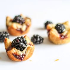 Brie and Blackberry Pastry Bites