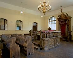 Interior of the Chevra Lomdei Mishnayot synagogue