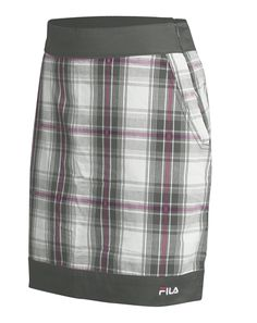 FILA plaid golf skort charcoal/pink