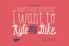 Ride my bike Serif is a new version of successful handmade typeface Ride My Bike designed by Coto Mendoza. Inspired by street style and the new culture that moves pedaling around the city.
