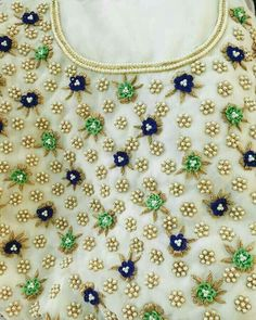 End Customization with Hand Embroidery & beautiful Zardosi Art by Expert & Experienced Artist That reflect in Blouse , Lehenga & Sarees Designer creativity that will sunshine You & your Party. Embroidery Stitches Tutorial, Hand Embroidery Designs, Blouse Patterns, Saree Blouse Designs, Embroidery Fashion, Beaded Embroidery, Mirror Work Blouse, Maggam Work Designs, Gold Mangalsutra