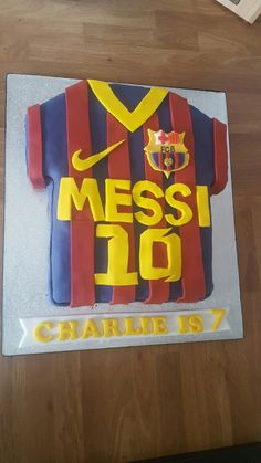 Messi barcelona shirt birthday cake