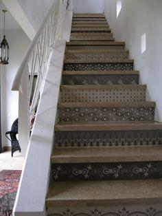 Cuisine salle de bain mur escalier contremarche tuile for Stickers pour marche d escalier
