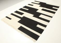 Sweden Black and Cream Hand Knotted/Woven Carpet