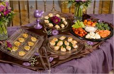 Reception idea - Pass the hors d'oeuvres please! You'll find a variety of trays in Dollar Tree.