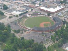 Bosse Field, 1915, Evansville Indiana. Third oldest baseball stadium in the United States.